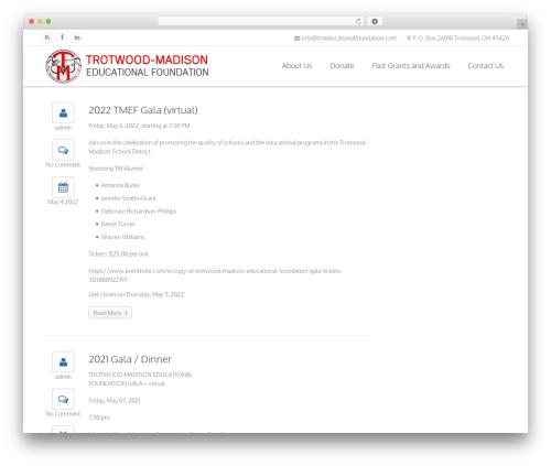 WordPress website template Sandy - tmeducationalfoundation.com
