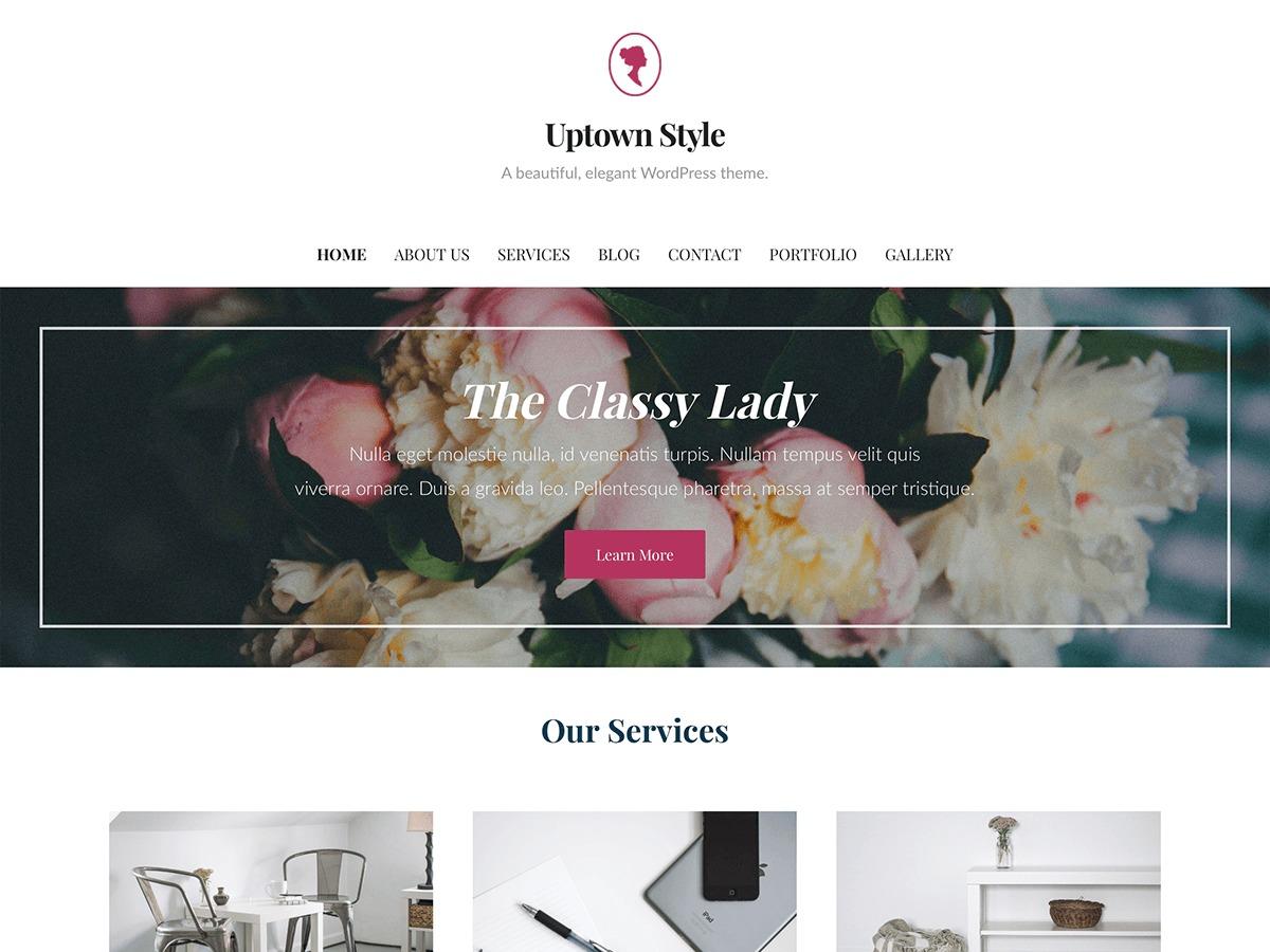 WordPress website template Uptown Style