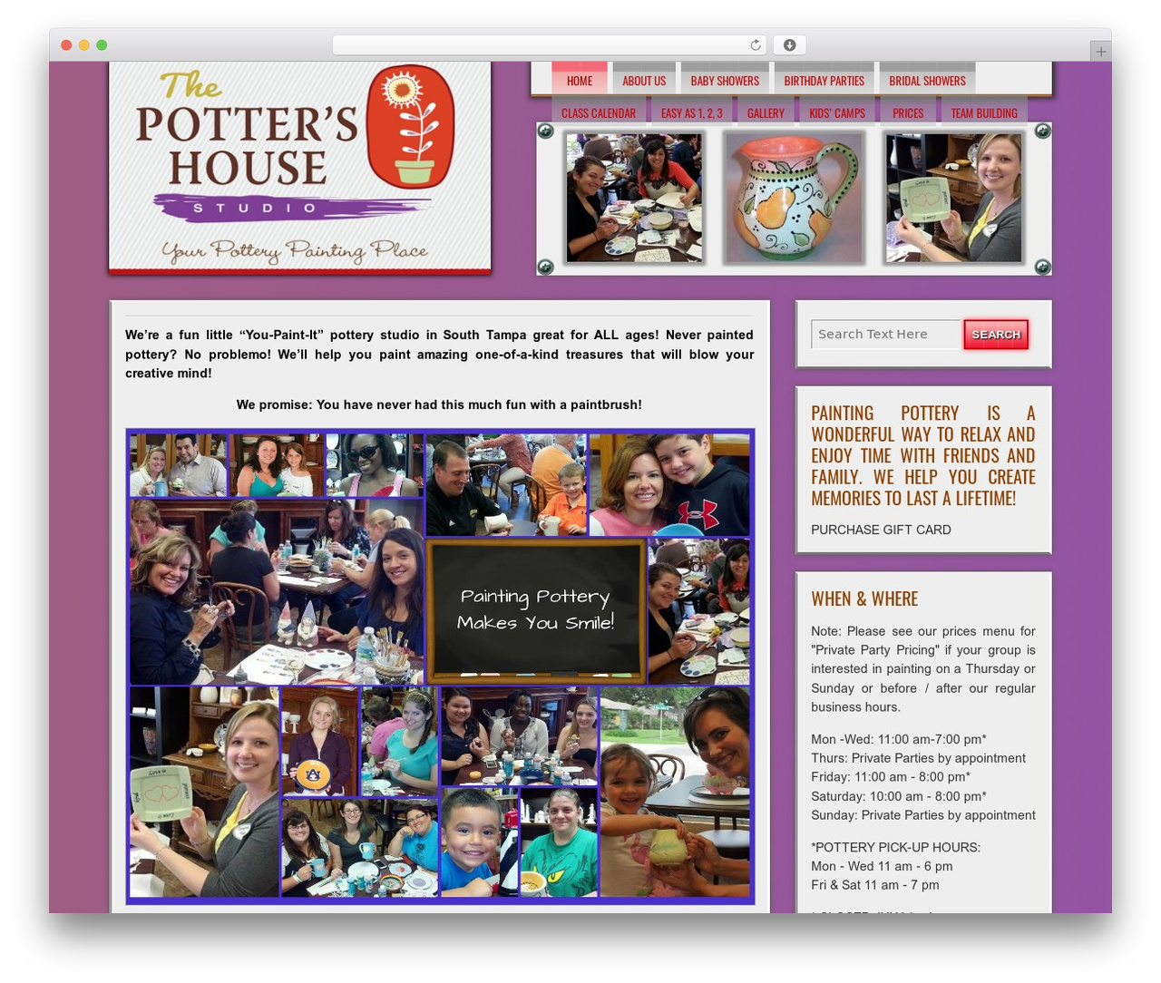 WP theme DISCUSSION - thepottershouse.biz