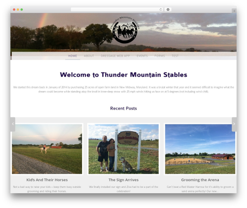 WP theme WP Pure Equestrian - thundermountainstables.com