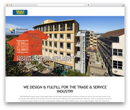 X WordPress template for business - truaxbrandingco.com
