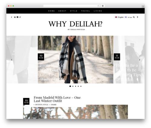 Allure fashion WordPress theme - whydelilah.com