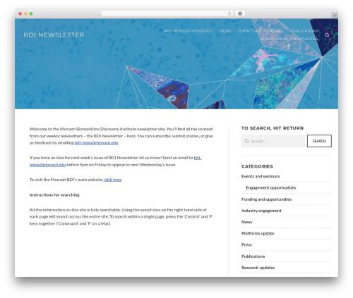 Appetite WordPress news theme - bdi-newsletter.com