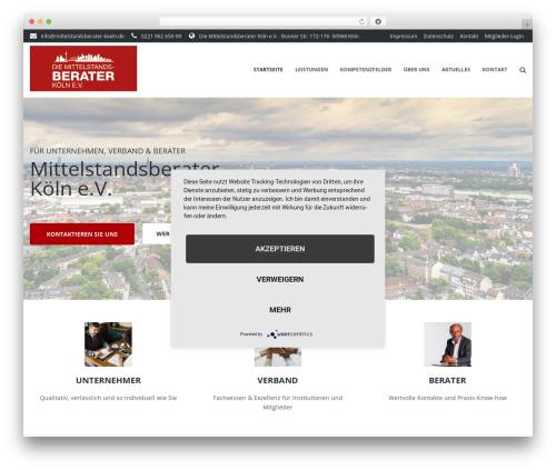 Ascendio WordPress page template - mittelstandsberater-koeln.de