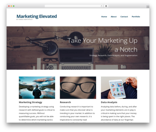 Ascension WordPress theme - marketing-elevated.com