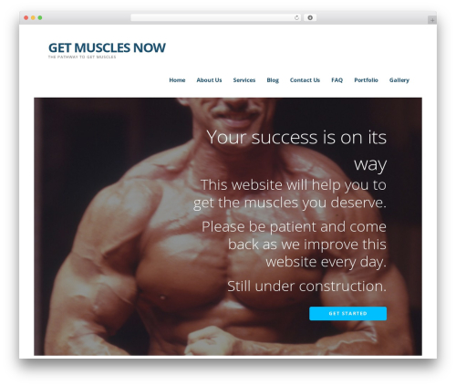 Ascension WordPress website template - getmusclesnow.com