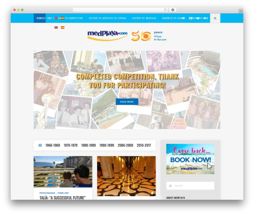 Best WordPress template Flow - medplaya50.com