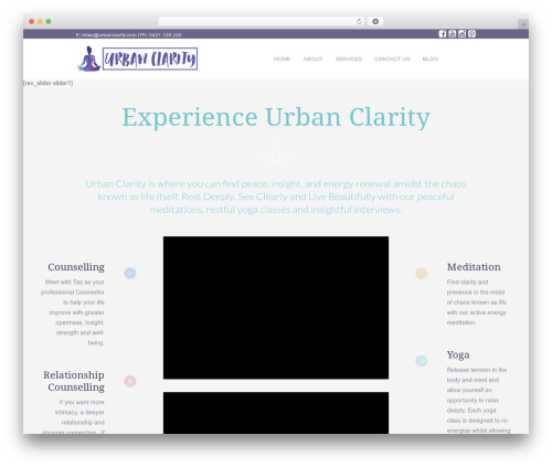 Best WordPress template Yoga Fit - urbanclarity.com