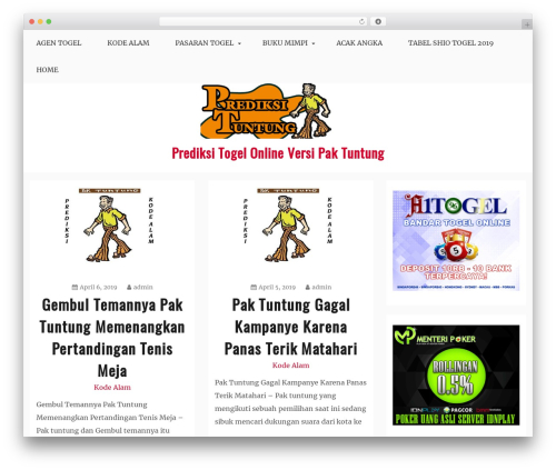 Blog New WordPress blog template - prediksituntung.com