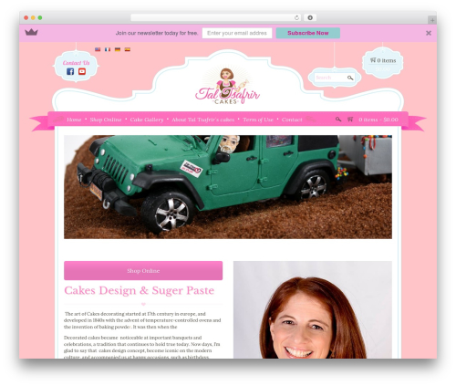 Boutique Kids theme WordPress - talcakes.com
