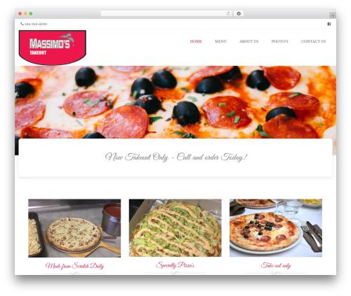 Brasserie Pro WP theme - massimosristorante.com