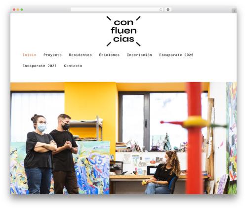 Capri WordPress theme - programaconfluencias.com