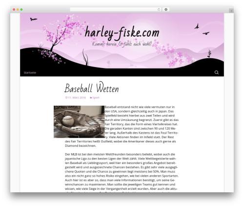 Cherry Blossom WP template - harley-fiske.com