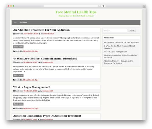 CleanWP template WordPress free - freementalhealthtips.com