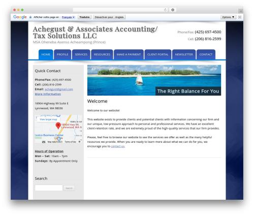 Customized company WordPress theme - agustax.com