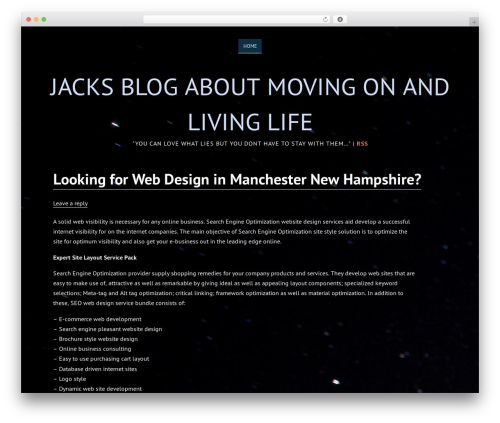 Deep Sea free website theme - lovewhatlies.com