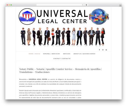 Edge free WordPress theme - universallegalcenter.com