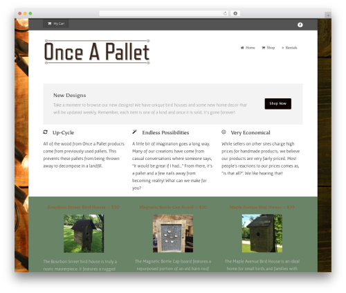 Flawless theme WordPress - onceapallet.com