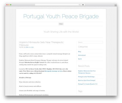 Forever WordPress website template - juventudeviana.com