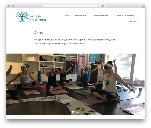 Genesis WP theme - villageartyoga.com