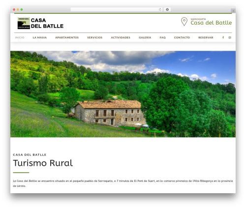 Hotelcalifornia best hotel WordPress theme - casadelbatlle.com
