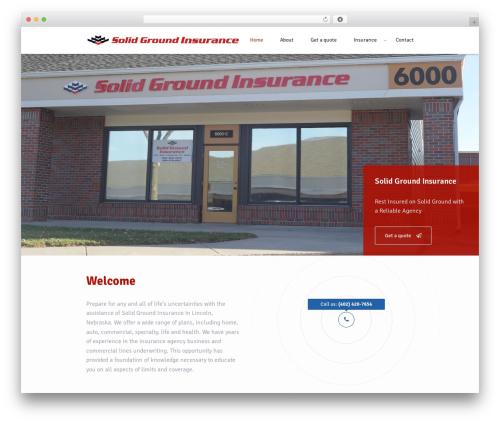 Insurance WordPress Theme WordPress theme - solidgroundins.com