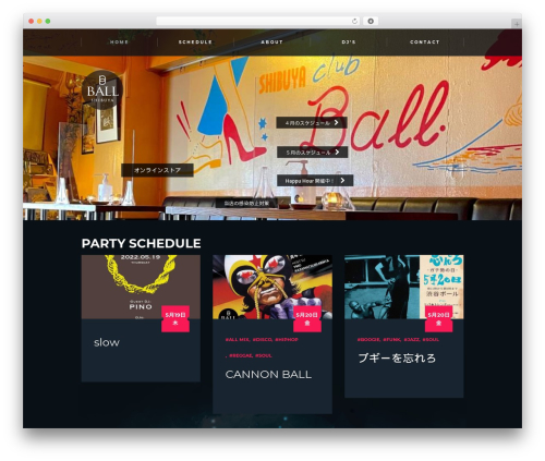 Jarvis WP theme - shibuya-ball.com