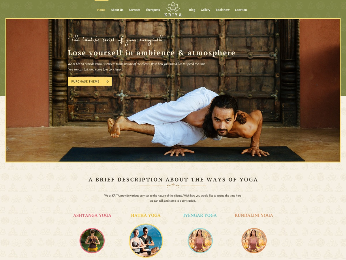 Kriya WordPress theme
