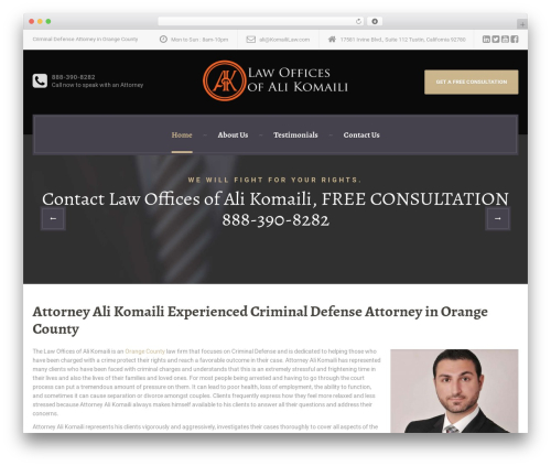 LegalPress by ProteusThemes top WordPress theme - criminaldefenseattorneyinca.com