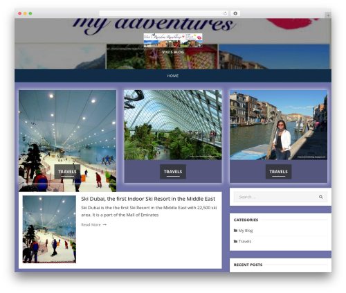 Miteri template WordPress - vivisrandomramblings.com
