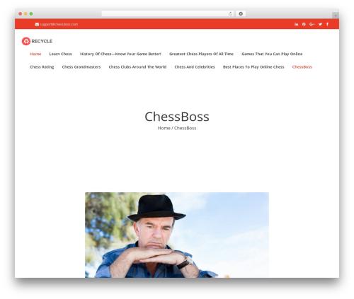 Recycle WordPress gaming theme - chessboss.com