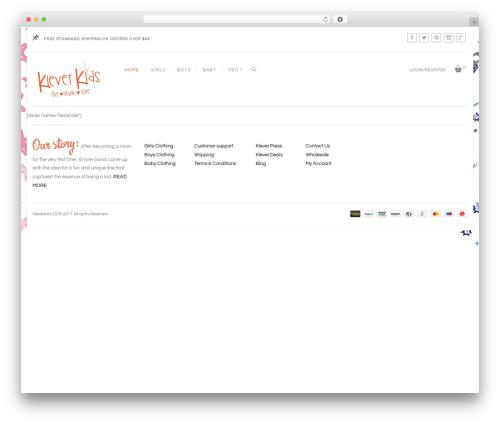 Regency WordPress website template - kleverkidsdemo.com