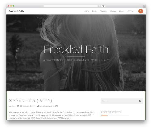 Smallblog WordPress template free download - freckledfaith.com