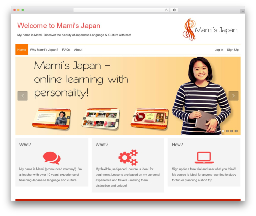 SmartShop WordPress shop theme - mami-japan.com