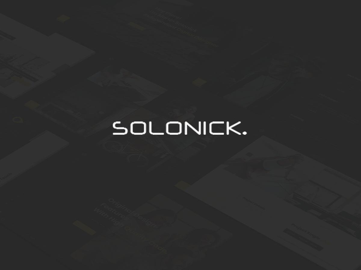 Solonick WordPress photo theme