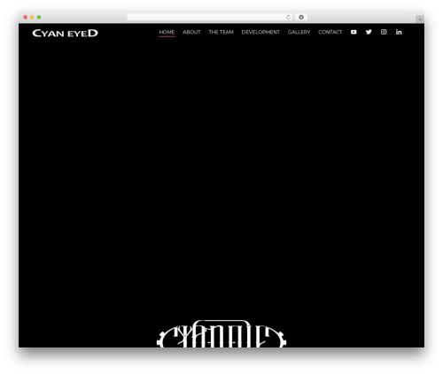 Sydney WordPress template - cyan-eyed.com
