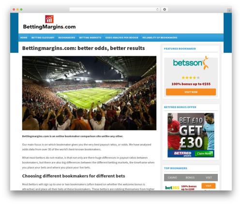 Template WordPress Spread II Theme - bettingmargins.com