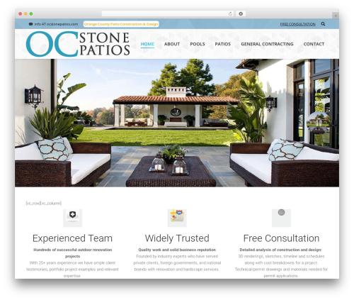 The7 premium WordPress theme - ocstonepatios.com