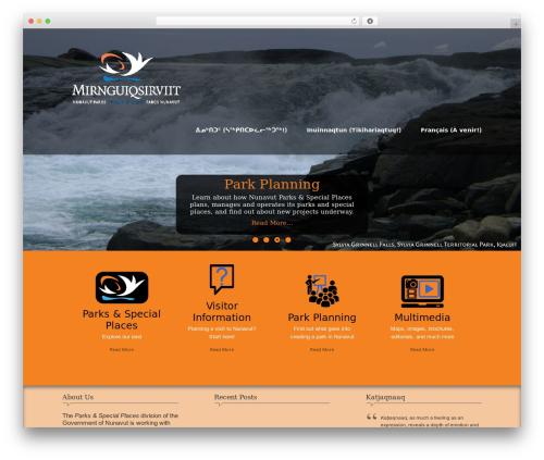 WordPress template Nature One Pro - nunavutparks.com