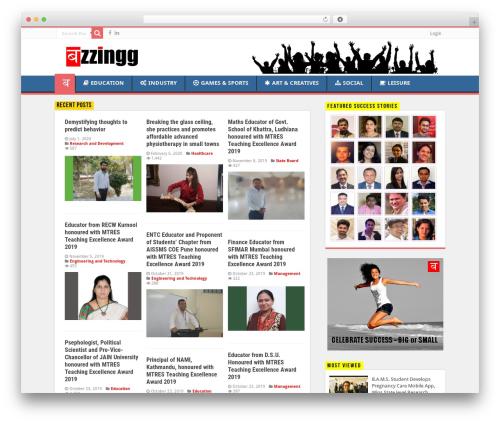 WordPress template Sahifa - buzzingg.com
