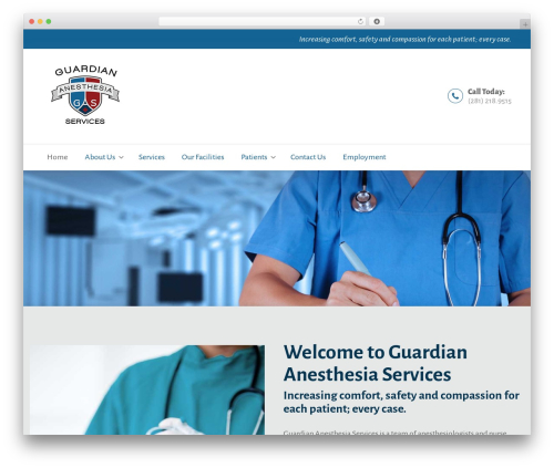 WordPress theme BeDENTIST - guardiananesthesiatx.com