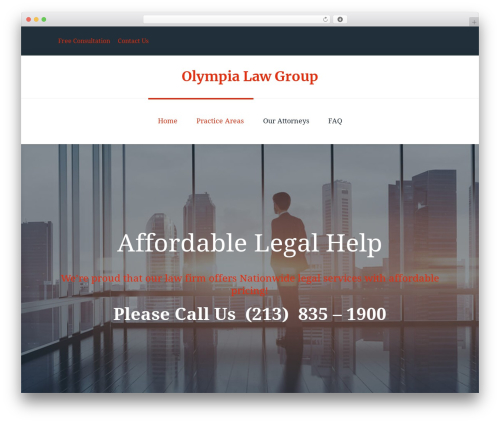 WordPress theme Fenimore - olympialawgroup.com