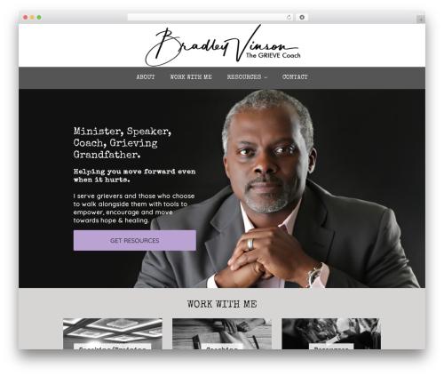 WordPress theme Tribe - bradleyvinson.com