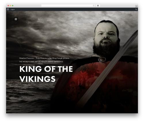 WordPress website template Brando - kingofthevikings.com