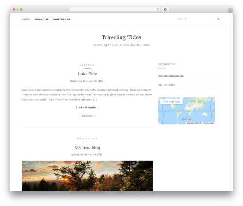 Activello template WordPress free - travelingtides.com
