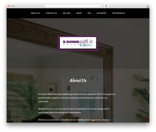 Argent free WP theme - bdunnewithit.com