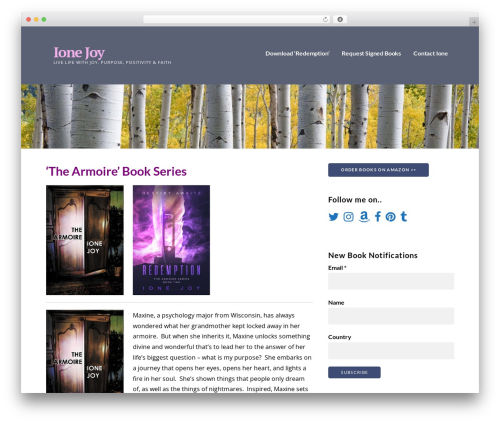 Ascension best WordPress theme - ionejoy.com