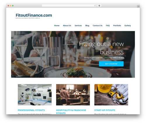 Ascension business WordPress theme - fitoutfinance.com