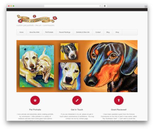 Aviator WordPress website template - artbyisadora.com