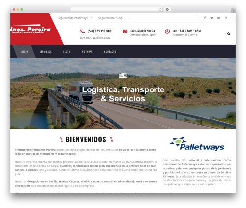 Best WordPress template TM Transport - transporteshermanospereira.com